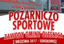 Zawody sportowo- pożarnicze Gminy Oleśnica