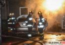 Wieczorny pożar w warsztacie