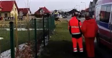 Wypadek podczas prac na wysokości-przyleciał śmigłowiec
