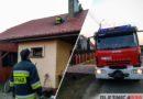 Pożar sadzy w przewodzie kominowym. Akcja Straży w podoleśnickich Sokołowicach