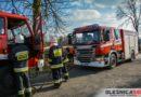 Pożar suchych traw przy zabudowaniach w Brzezince