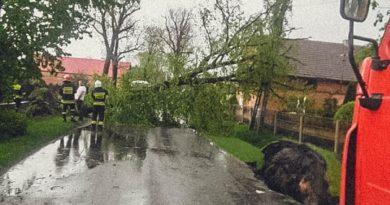 Wiosenna burza nad powiatem oleśnickim