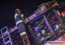 Pożar sklepu w Ostrowinie. Akcja gaśnicza trwała do wczesnych godzin porannych