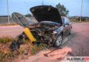 Jedna osoba ranna w wyniku wypadku na zjeździe z węzła