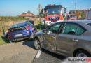 Zderzenie Mazdy i Skody na DK25 w Ose