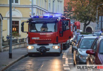 Interwencja Straży Pożarnej w centrum miasta