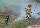 Nasączona benzyną szmata przyczyną pożaru na nasypie kolejowym