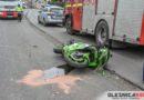 Zderzenie motocykla z osobówką w Bierutowie