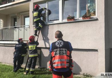 Pożar w mieszkaniu i brak lokatora
