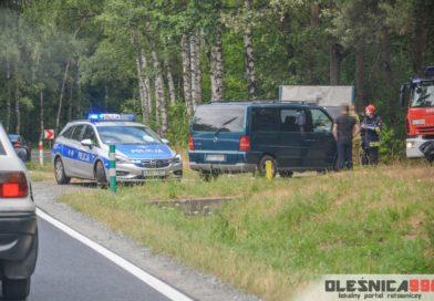Bus wypadł z drogi przed Ostrowiną