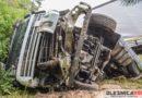 Groźny wypadek ciężarówki na drodze krajowej nr 25 w Ose