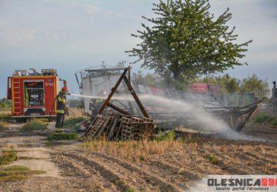 Pożar starej szopy na Wądołach