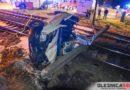 Poważny wypadek na przejeździe kolejowym w Bierutowie. Po ranną kobietę przyleciał śmigłowiec