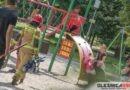 Groźny wypadek na placu zabaw. Kilkulatka zawisła na grubej lince