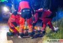 Nocne potrącenie na Dobroszyckiej. Po ciężko rannego obywatela Ukrainy przyleciał śmigłowiec LPR